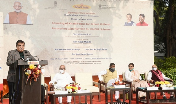 KVIC signs MOUs with Ministry of Tribal Affairs