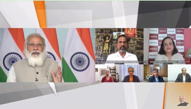 PM addresses NASSCOM Technology