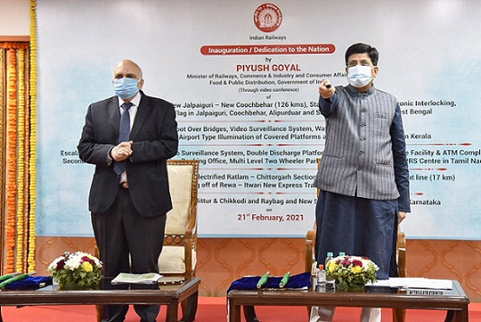 Piyush Goyal dedicates 88 Railway projects