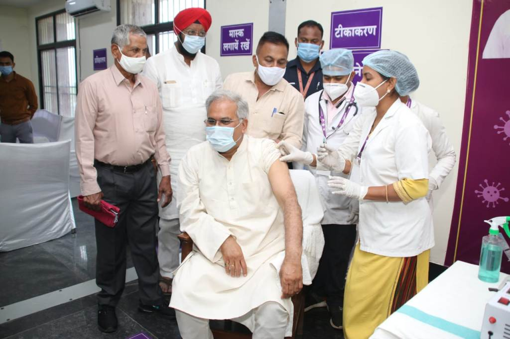 CM Baghel gets vaccinated