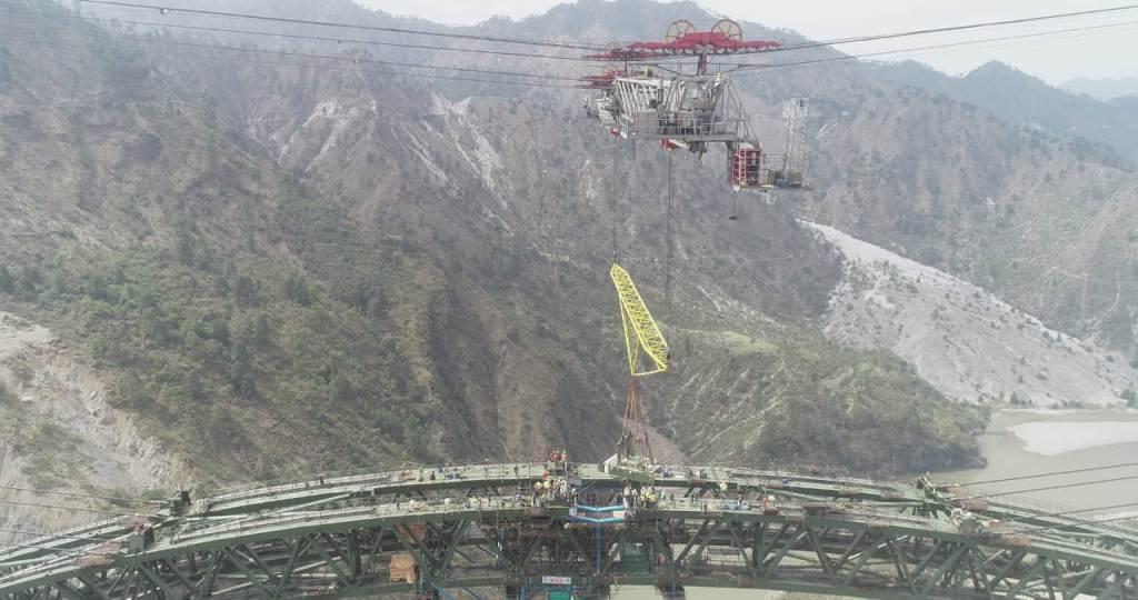 Railways complete Arch closure of iconic Chenab Bridge